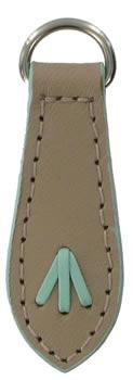 Taupe and Pale Blue replacement zip tag for Radley handbags Z38/A