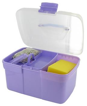 Horse Grooming box and kit J976 (lilac shown)