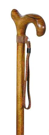 Ladies Derby Walking Cane with Beech Wood Shaft and cord wrist loop