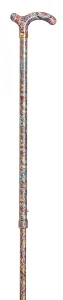 Ladies Petite Fashion Cane Pastel Paisley Pattern