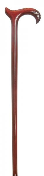 Ladies Scorched Viennese Derby Walking Cane with carved nose