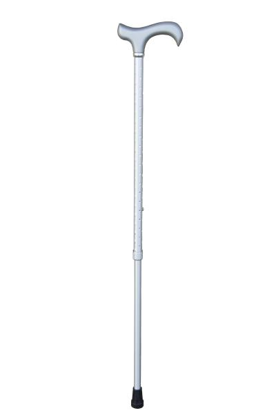 Ladies Silver Twinkle Derby Walking Cane with engraved surface