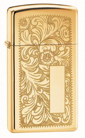 Ladies Zippo Venetian High Polish Brass Lighter
