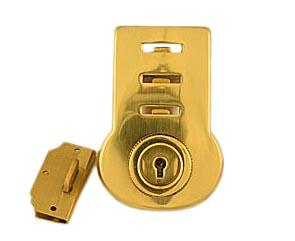Large Brass Briefcase Soft Key Lock