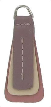 Layered replacement zip tag for Radley handbags Z72/B plum, pale pink and rose