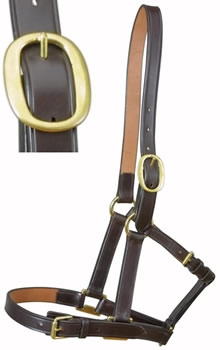 Brown Leather Foal Headcollar by E. Jeffries