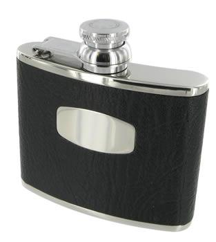 Leather Bound Hip Flask by Bisley