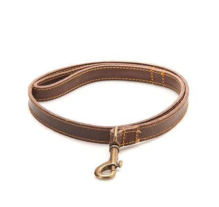 Barbour Nubuck Leather Dog Lead in brown