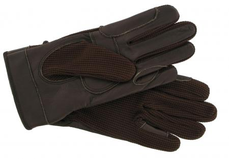 Leather Palm Riding Gloves Brown