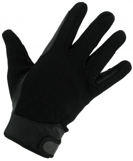 Leather Palm Riding Gloves Black