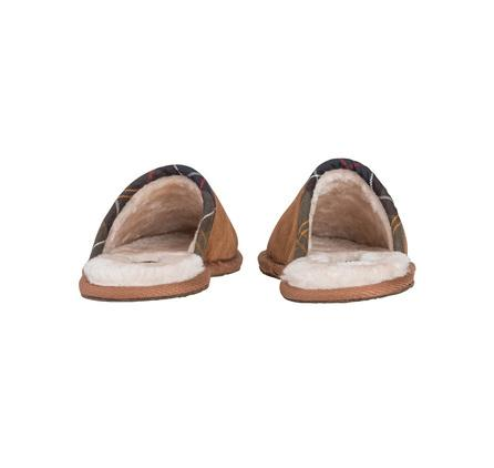 Leigh Ladies Slipper by Barbour in camel rear view