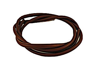 117cm Length of Rolled Dark Tan Leather Strapping