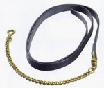 Lightweight Leather Lead Rein with Brass Chain End