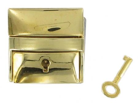 Lockable Tucktite fastener Brass CTT24