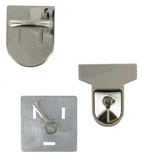 Lockable Tucktite Fastener in Polished Chrome CTT20