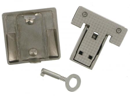Lockable Tucktite Fastener Satin Chrome CXLK5