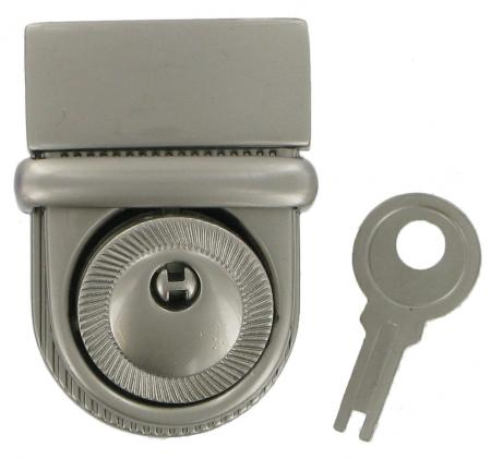 Lockable Tucktite fastener Satin Chrome Finish CTT10CH