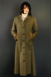 Long Heather Tweed Coat for ladies at Cox the Saddler
