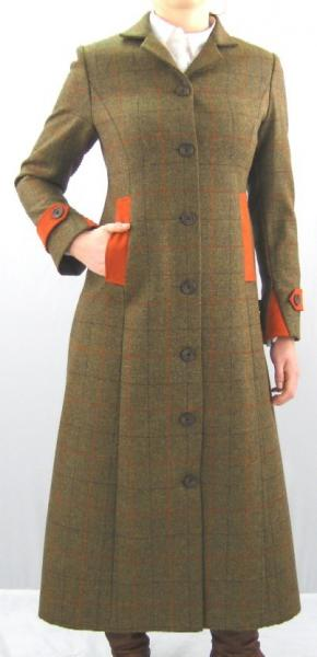 Long Heather Tweed Coat for ladies