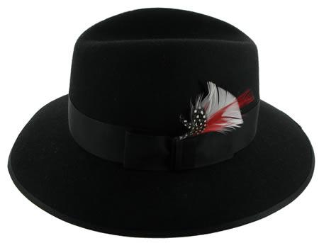 Madison Hat by Christys in Black