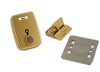Medium Brass Soft Briefcase Key Lock