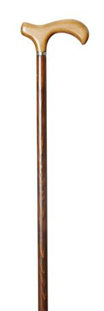 Melbourne Derby Cane with ldark Beech Wood Shaft and light handle