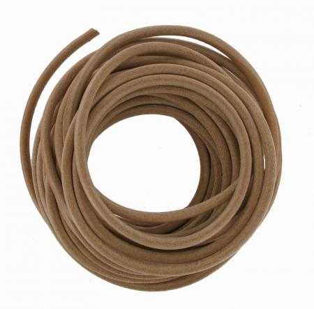 1 Metre of Round Leather Belting 6mm Diameter CRLB1