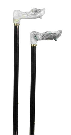 Moulded Handle Adjustable Walking Stick