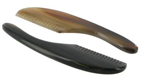 Abbeyhorn Moustache Comb with Handle