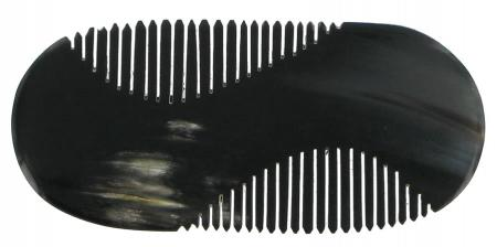 Moustache Comb with Handle in horn from Abbeyhorn