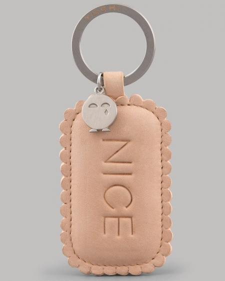 Nice Biscuit Leather Keyring YKR NICE