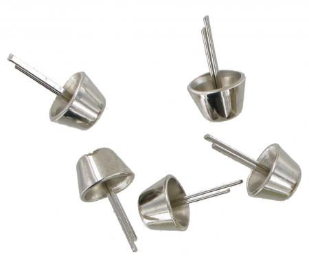 Nickel Briefcase Base Stud Pack of 5 CBS7CH