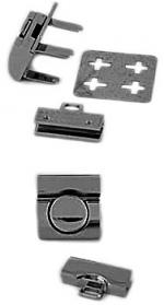 Nickel Tucktite Fastener for Briefcases and Bags