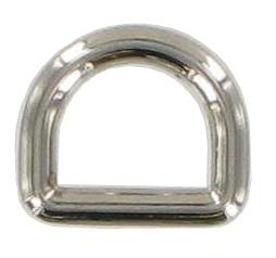 Pack of 5 Nickel Fixed D-rings 13mm CXD9