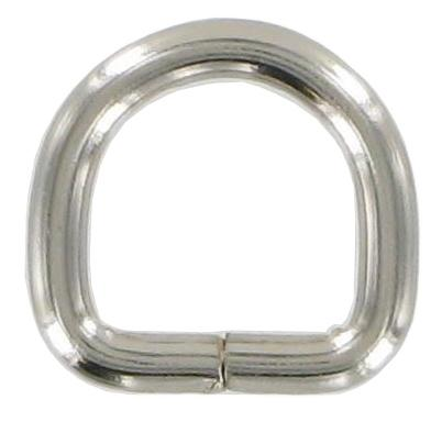 Pack of 10 Nickel Split D-rings 13mm CXD3