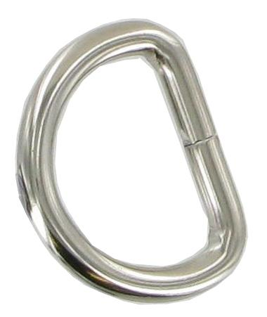 Pack of 5 Nickel Split D-rings 27mm CXD5