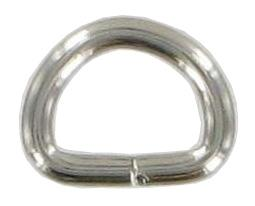 Pack of 10 Nickel Split D-rings 13mm CXD2