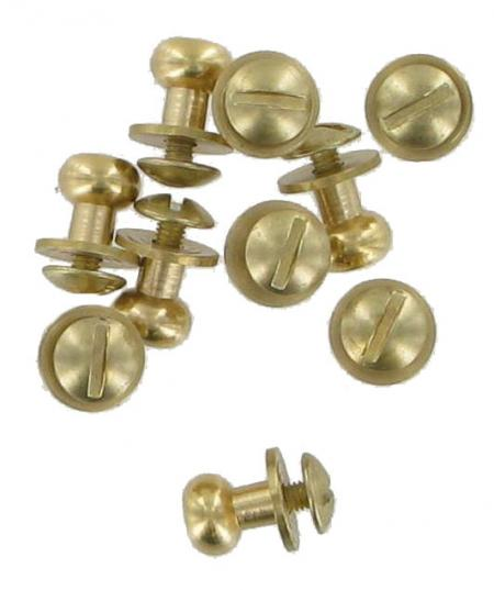 Pack Of Ten Gold Finish Sam Browne Studs Large COXSB3GD