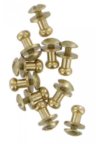 Pack Of Ten Gold Finish Sam Browne Studs Small COXSB4GD