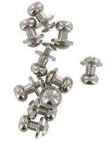 Pack Of Ten Polished Chrome Sam Browne Studs Large COXSB3NK
