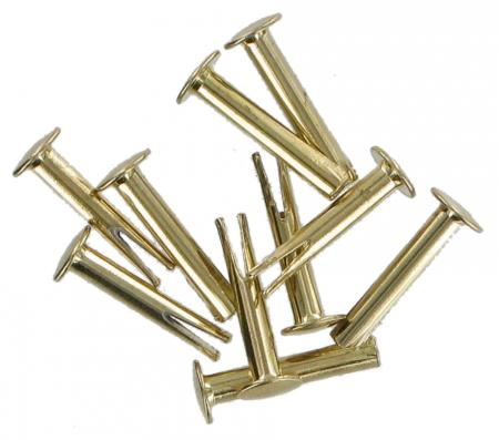 Pack of Ten Split Rivets Brass 22mm CXRIV9