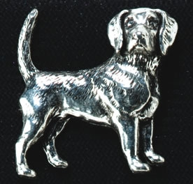 pewter beagle badge
