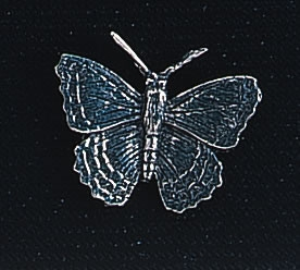 pewter butterfly badge