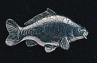 pewter carp badge