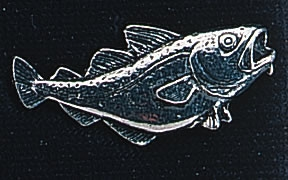pewter cod badge