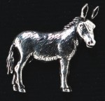 pewter donkey badge