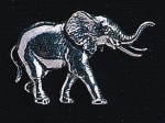 pewter elephant badge
