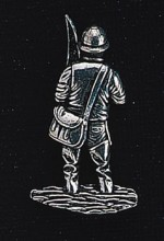 pewter fisherman badge