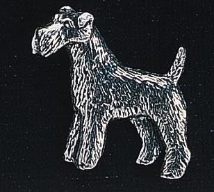pewter fox terrier badge