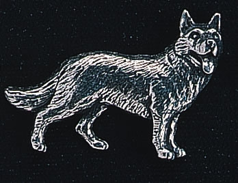 pewter german shepherd badge